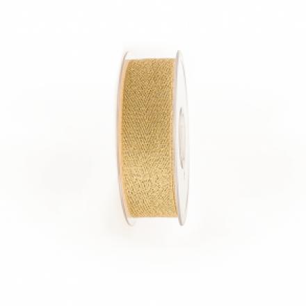 Lint 25mm/20m Chevron Gold