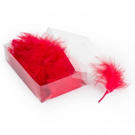 Marabou Feathers Rood