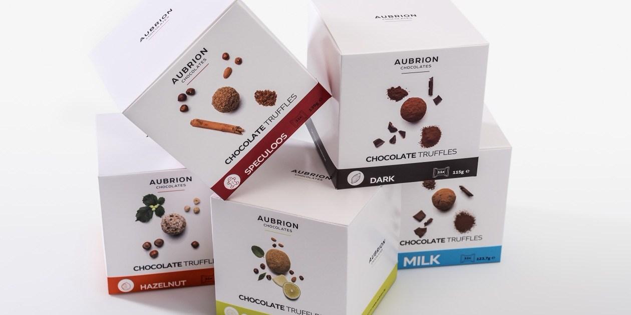 QBox pralines chocolade Gruyaert Aubrion Chocolates