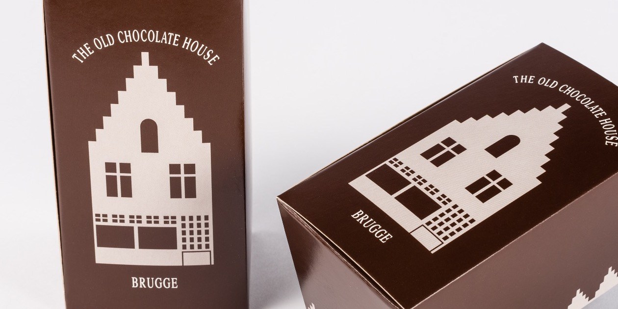 Ballotin chocolade Gruyaert Verpakking Praline The Old Chocolate House