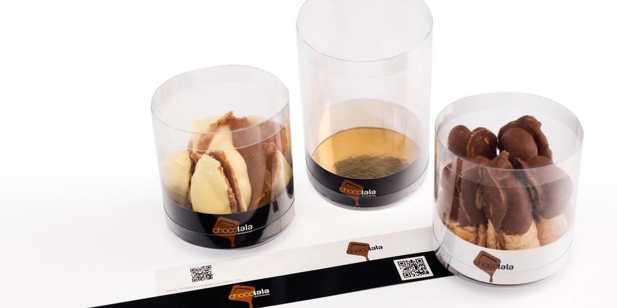 Strips Mikakokers naamdruk Chocolala confiserie chocolaterie