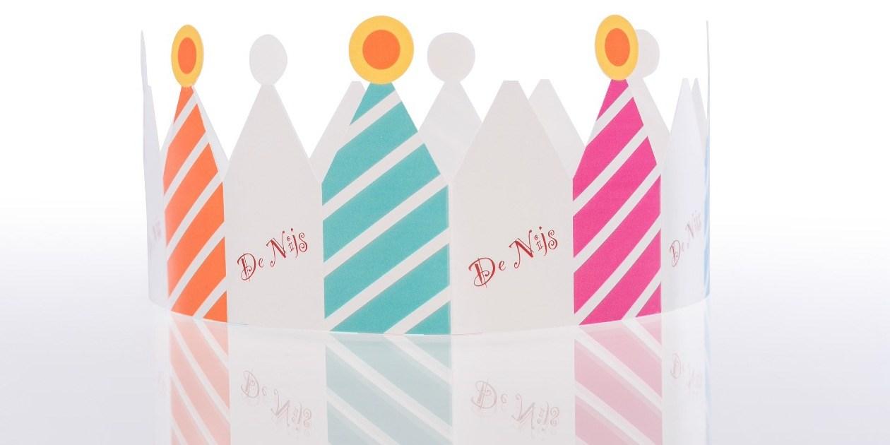 Kronen verjaardag Drie koningen gepersonaliseerd