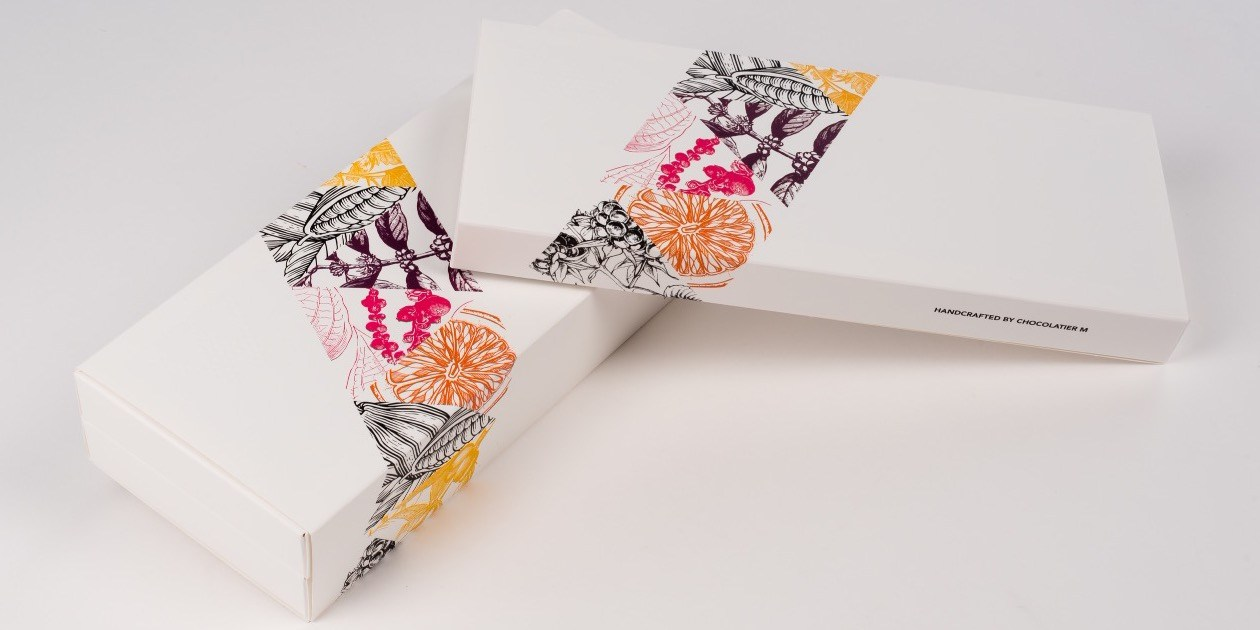 SleeveBox fine chocolates pralines Chocolatier M Maenhout