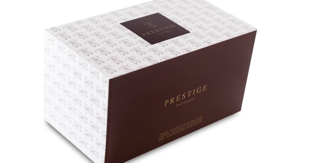 ProBox Buche Kerststronk langwerpige taart patisserie doos Boite Patisserie  Prestige