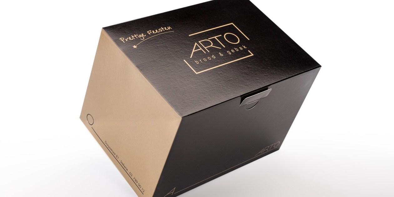 ProBox Buche Kerststronk langwerpige taart patisserie doos Boite Patisserie Arto