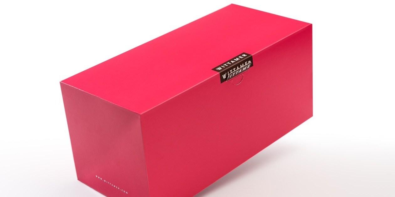 ProBox Buche Kerststronk langwerpige taart patisserie doos Boite Patisserie  Wittamer