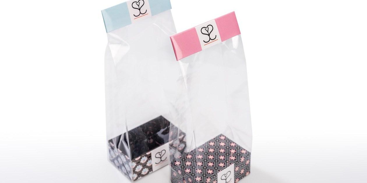 Polyprop zakjes bedrukt sokkels en sluitingen confiserie
